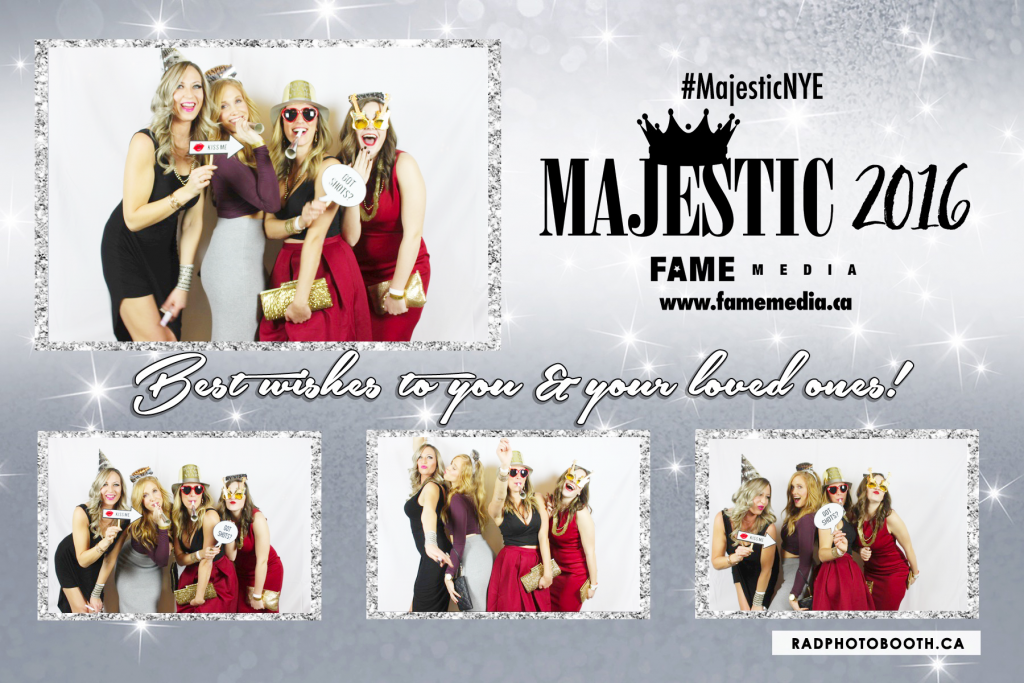 Majestic NYE 2016 Fairmont Royal York Photo Booth