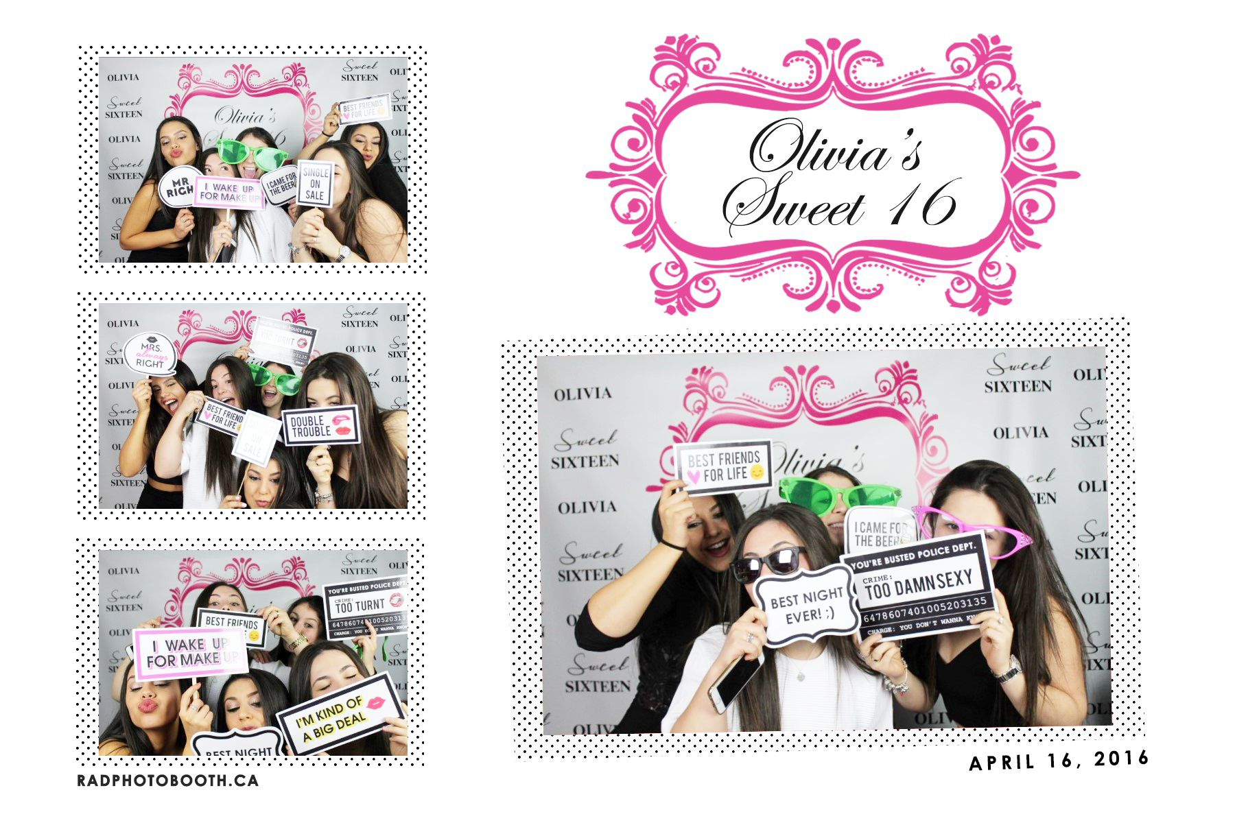 Sweet Sixteen Photo Booth - Bravo Entertainment