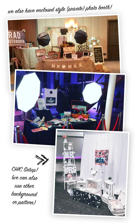 Photo Booth Vintage Chic Setup Rental