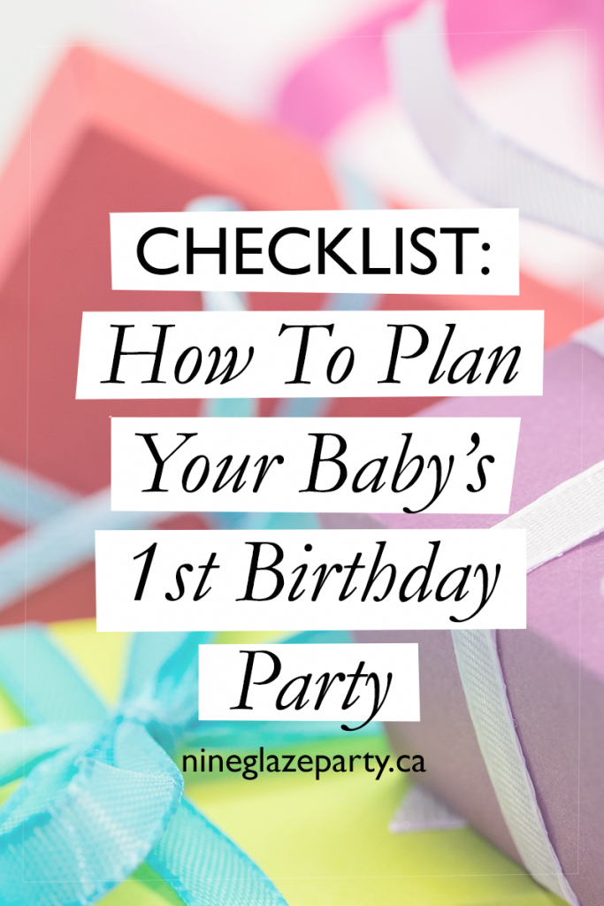 Checklist how to plan your baby 39 s 1st birthday party for 1 year birthday decoration