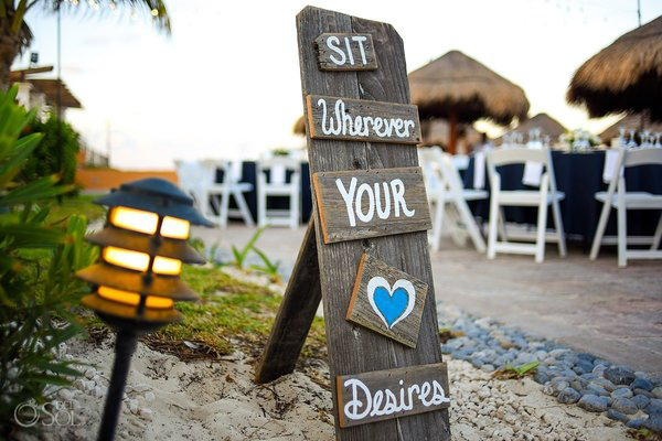 Cute and Clever Wedding Signs