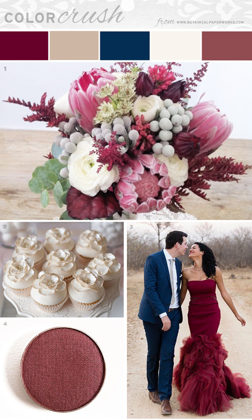 Marsala Paired with Navy and Cream