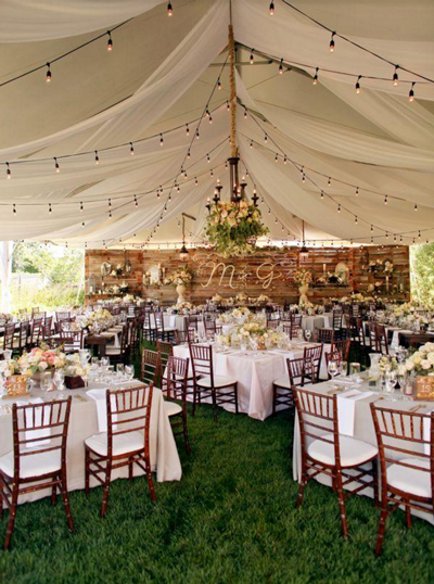 Rustic Backyard Wedding Decoration Ideas
