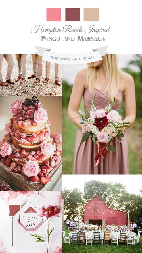 Spring Marsala Wedding Inspiration