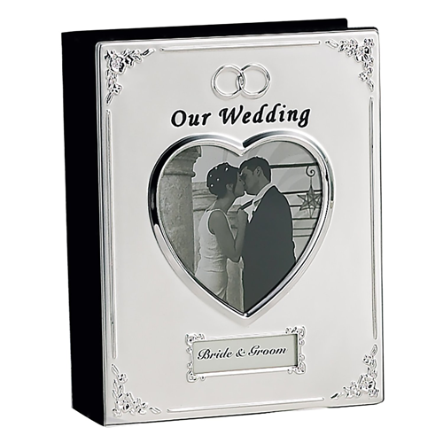 Silver plated wedding album