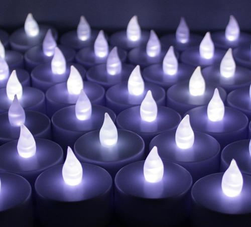White Flickering Flameless Lights