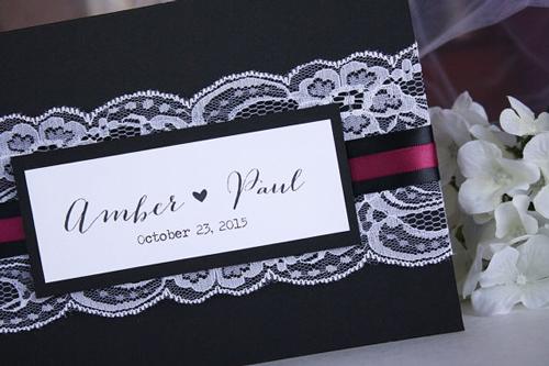 Custom Classic Wedding Guest Book