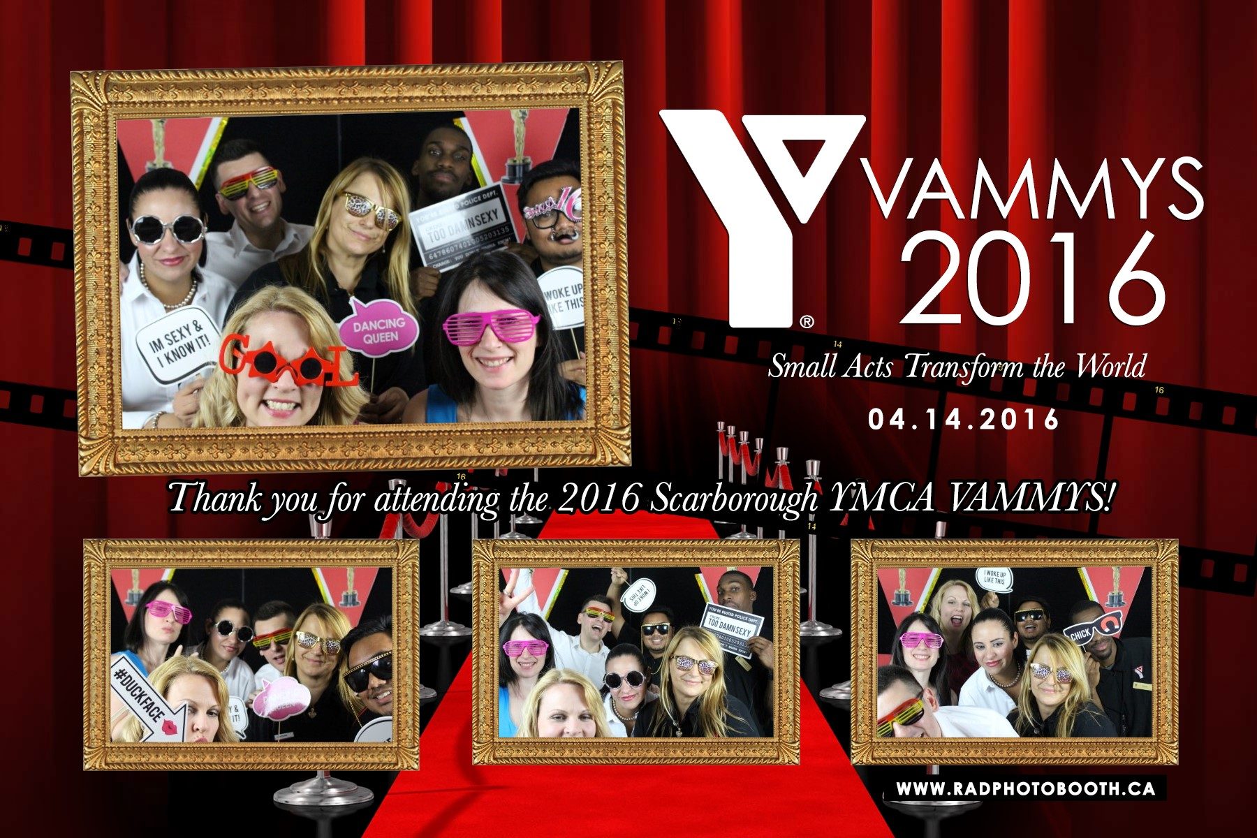 YMCA Photo Booth 2016 - Hollywood Theme