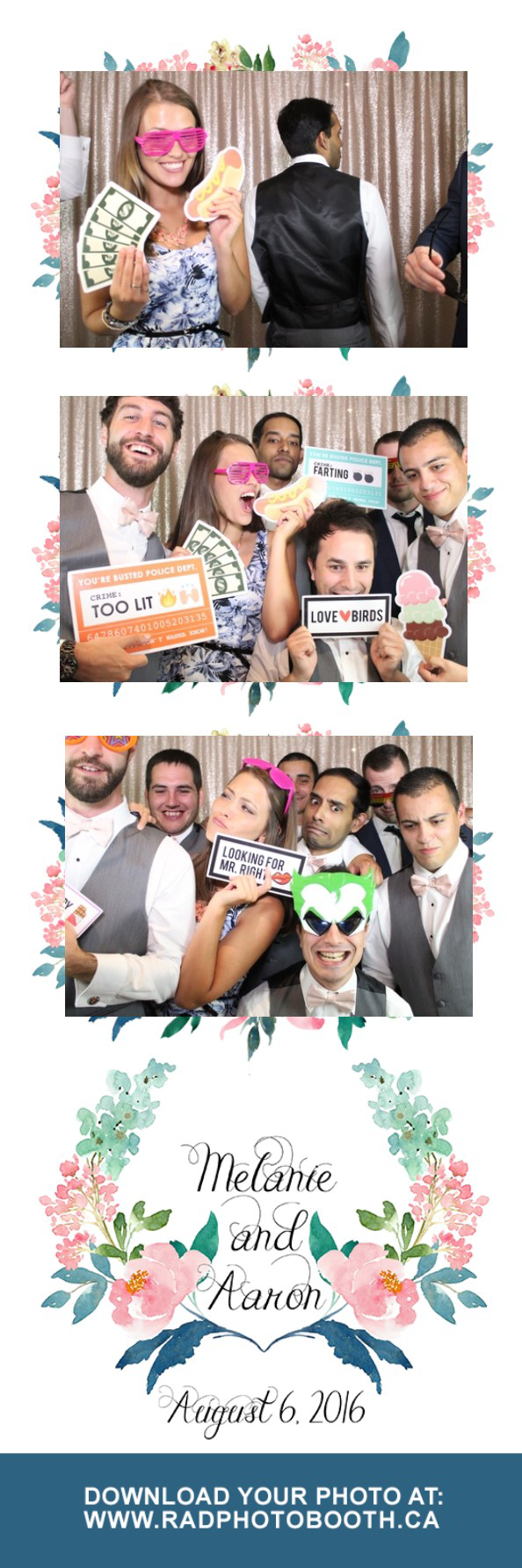 2 x 6 strips photo booth