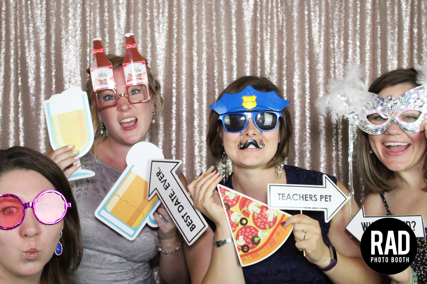 Champagne Backdrop Photo Booth