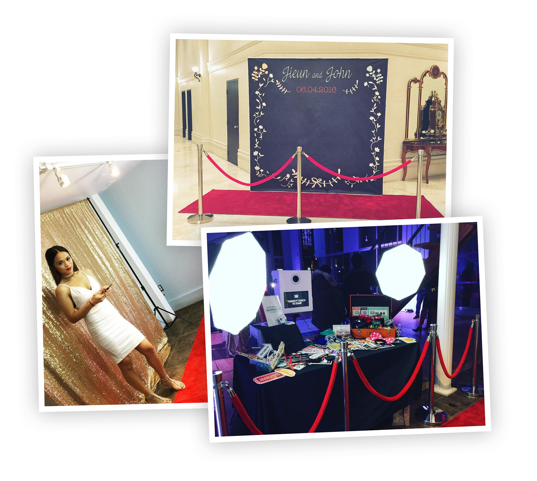 Red Carpet Style Photo Booth Rental Toronto