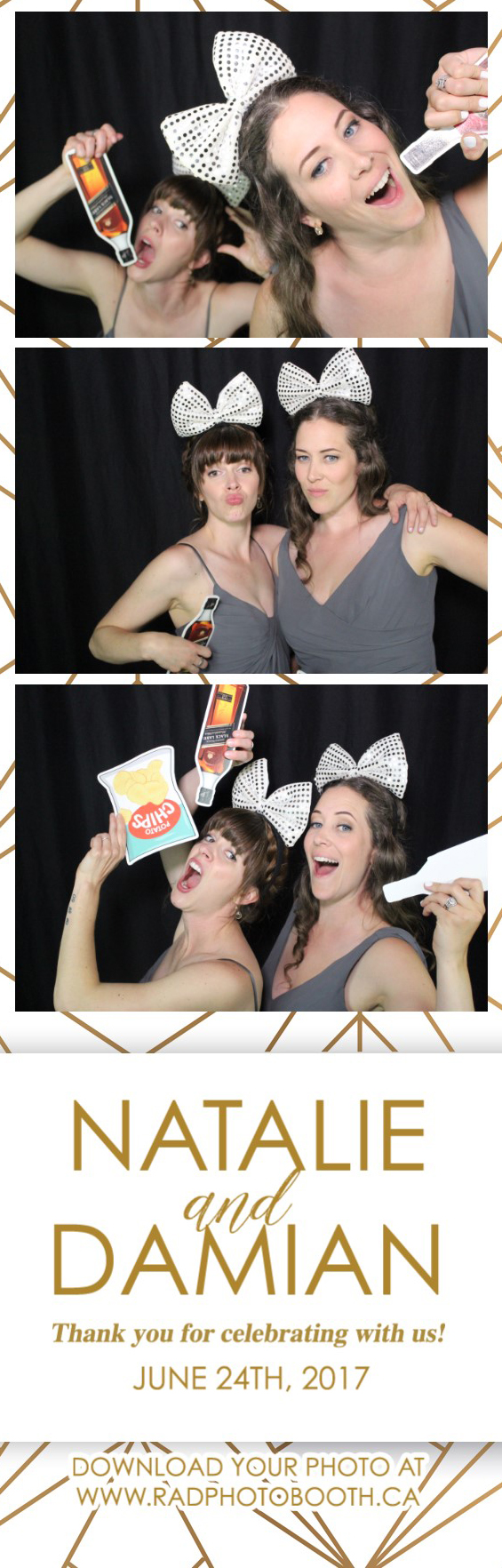 Industrial Gold Photo Booth